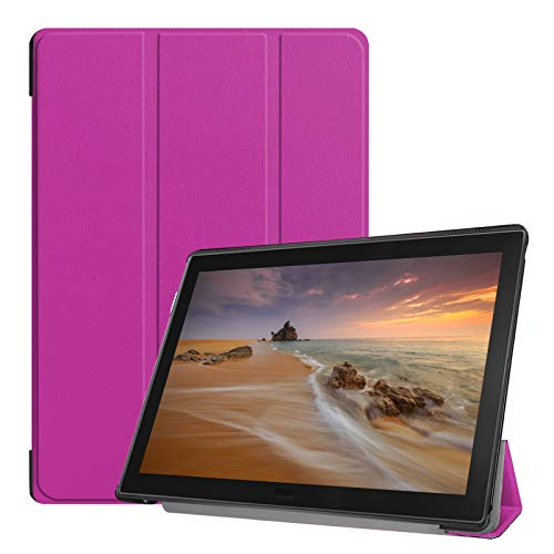 Tablet Hülle für Lenovo Tab E10 TB-X104F 10.1 Zoll Slim Case Etui mit Standfunktion und Auto Sleep/Wake Funktion Lila