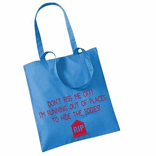 Don't me Piss off! I'm running von Versteckmöglichkeiten Einrichtungen auf TOTE BAG! Blau - Cornflower Blue