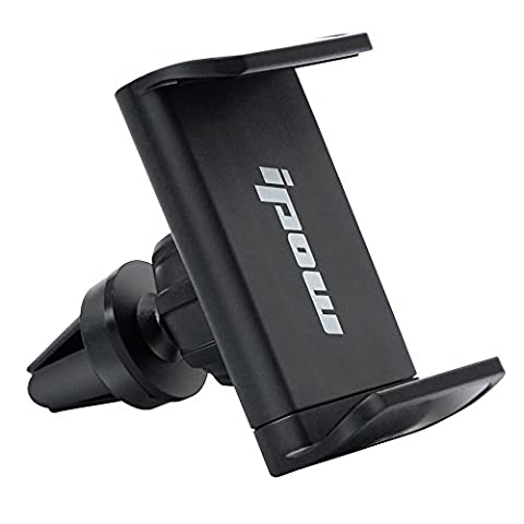 IPOW® Grand Angle support pour grille d'aération, rotatif à 360° Support de voiture universel pour tous les modèles de téléphone portable comme l'iPhone 6/6Plus/5/5S Samsung Galaxy/S7/S6/S5/Note 4Etc