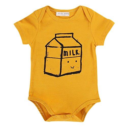 Sanlutoz Baby Bodys Unisex Neugeborene Kleidung Lustiges Onesie 0 3 6 9 Monate Sommer Mädchen Strampler Overall Säugling Jungen (6-12 Monate, R22)