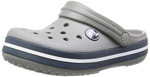 Crocs Crocs Crocband - Sabots mixte enfant - Gris (Smoke/Navy 05H) - 27/29 EU