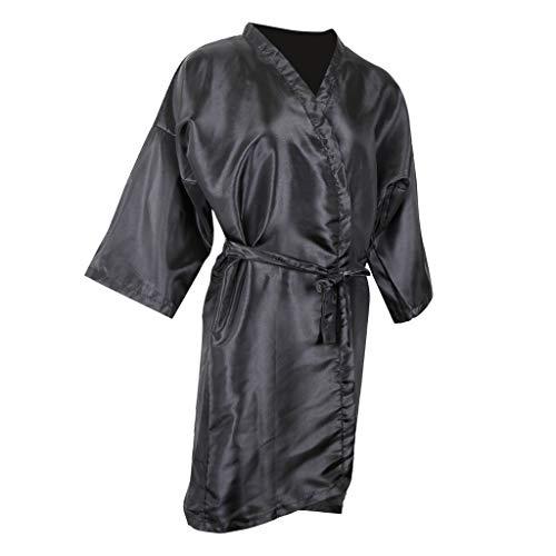 Schürze Stil Kleid (B Blesiya Salon Kundenkleid Fiseurumhang Friseur Kleid im Kimono Stil, Wasserdicht)