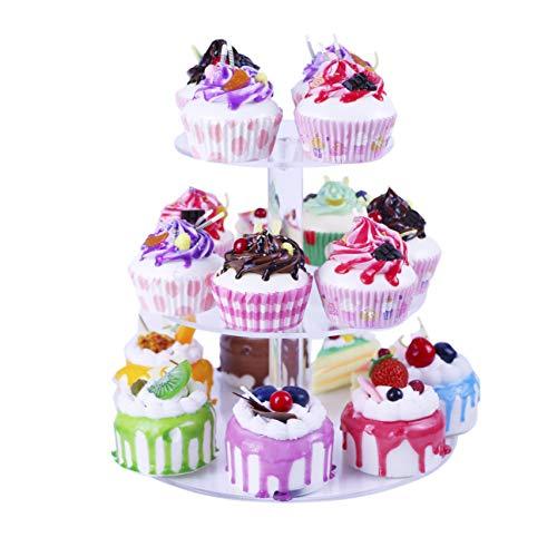 ake-Ständer Acryl klar Cupcake-Ständer Hochzeit Geburtstag Display Ständer, acryl, farblos, (3 tier round (3.9
