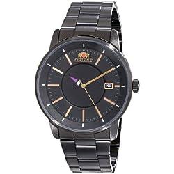 Orient Herren-Armbanduhr 41mm Armband Edelstahl + Gehäuse Automatik Zifferblatt Schwarz Analog FER02004B0