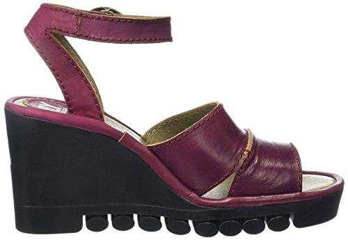 FLY London ROSE643FLY, Sandales Compensées femme Violet - Purple (Magenta)