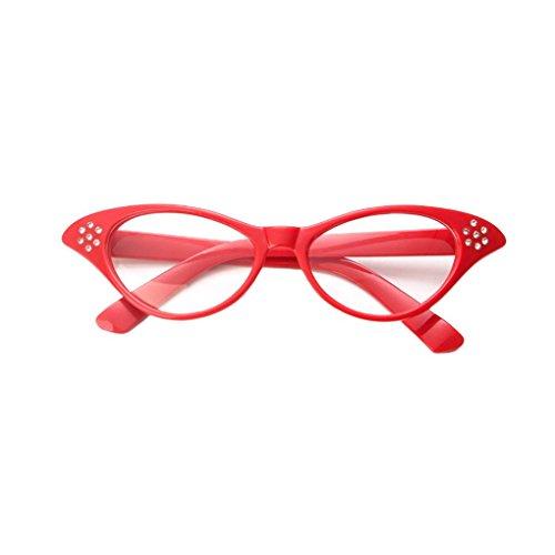 Idyandyans Diamante Retro Kunststoff-Glas-Rahmen Harzlinse Frauen Dekoration Gläser Eyewear für Custume/Parteien