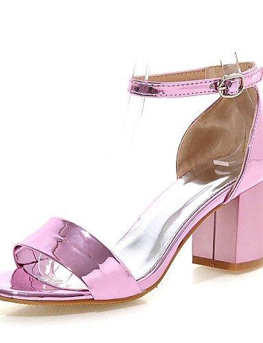 LFNLYX Scarpe Donna-Sandali-Formale-Aperta-Quadrato-Finta pelle-Rosa / Rosso / Argento / Dorato Red