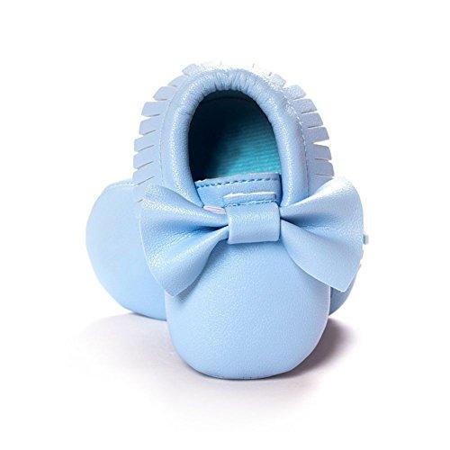 BOBORA Chaussures Bebe Filles Garcons Soft Soled Tassel Bowknots Chaussures Berceau PU Mocassins #J