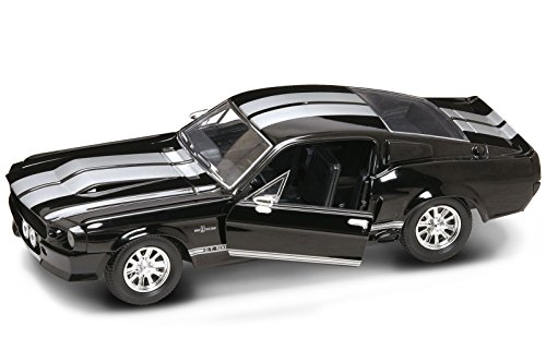Ford Shelby Lucky Diecast 1/24 Mustang GT 500 1967 Negro GT500, Coche Fundido a presión