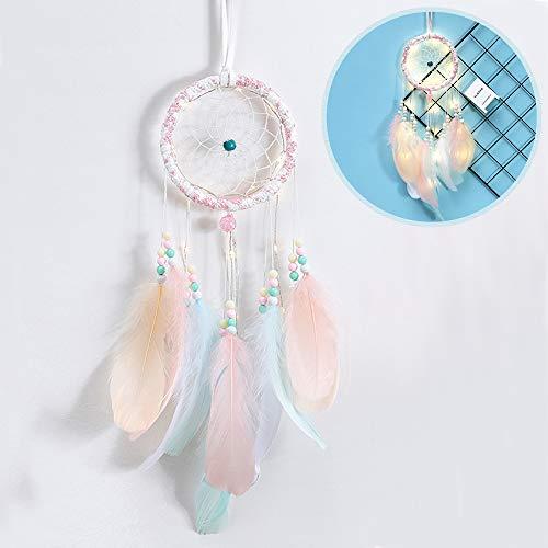 gotyou Atrapasueños Dreamcatcher Decoration Hecho A Mano,Pared DecoracióN de Pared con LáMpara...