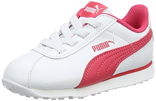 Puma Unisex-Kinder Turin AC Inf Sneaker, Weiß White-Paradise Pink, 22 EU