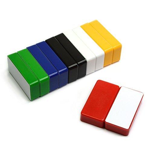 12Zählen Mehrfarbig Magnetisches Whiteboard Magnete-Können bis zu 37Seiten auf Stahl Schrank-Domino Größe gut für Nachricht Board, Magnet und Kühlschränken - Keramik-message Board