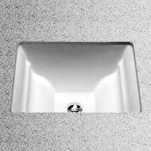 Toto LT626G#01 Aimes 17-Inch by 15-Inch Undercounter Lavatory with SanaGloss, Cotton by Toto