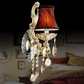 Lampe de chevet européenne en cristal lampe créative antéviseur lampe de chambre à coucher