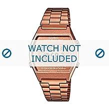 Casio correa de reloj B640WC-5AEF / B640WC-5A Acero Dorado (Rosé) 18mm(Sólo reloj correa - RELOJ NO INCLUIDO!)