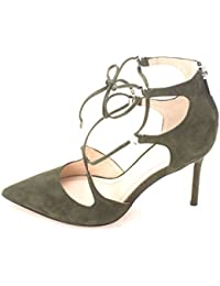 Marc Fisher Womens Toni Suede Closed Toe Ankle Strap Gray Suede Size 11.0