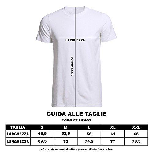 "T-Shirt Uomo ""Keep Calm Senza Pnsier"" Maglietta per l'estate Grigio"