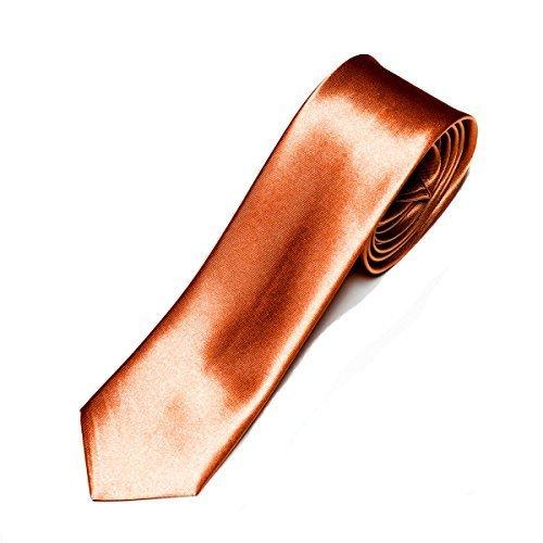 business-tie-ca-5cm-narrow-slim-tie-in-various-uni-colours-copper-one-size