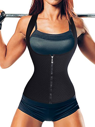Keep Warm Suana Tank Top Vest Waist Trainer Shaperwear Former Bodysuit Für Weight Loss (4XL(2-3 Days Delivery), Black (Local Seller)) (Garter Underwire Dress)