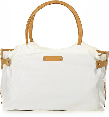 ARA BAGS, Damen Handtaschen, Henkeltaschen, Schultertaschen, 43,5 x 23,5 x 14 cm (B x H x T) Weiß
