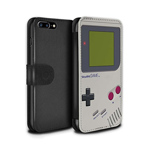Gameboy Leather Wallet Flip Case for iPhone 7 PLus