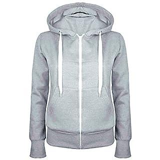 AK Women's Plain Hoodie Silver Grey Small (UK-16)