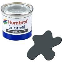 Humbrol 14ml N. 1Tinlet vernice a smalto opaco, 32(Grigio Scuro)