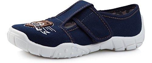 Ladeheid pantofole bambini larw005(blu marino bianco/champ, 31)