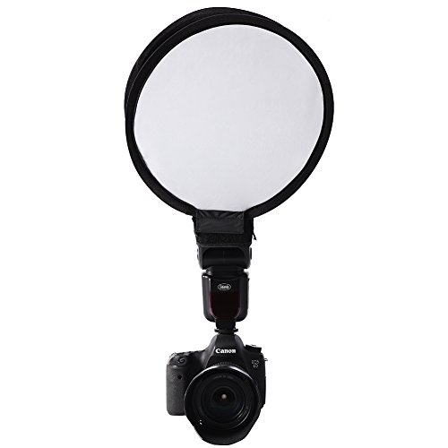 Beauty Dish Fotografie Foto-Studio-Licht-Beleuchtung Zubehoer Universal-Reflektor Wabe Weiss transluzentem Kunststoff Weiss Innenraum fuer Blitz Flashgun(30cm)