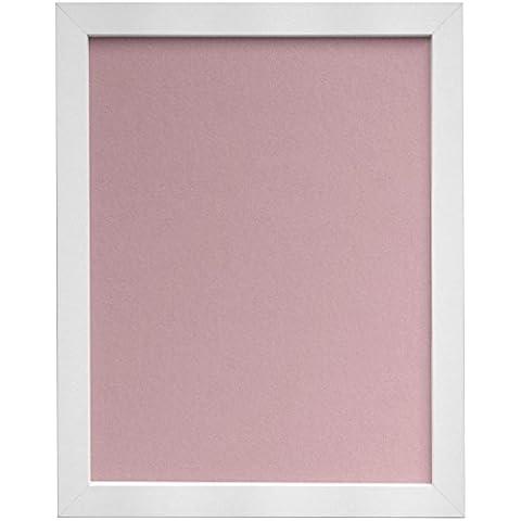 Frames By Post–Cornice portafoto H7, 25mm, colore: bianco con nero, larghezza 25mm, bianco, Avorio, Rosa, Azzurro grigio supporto, MDF, Pink Backing Board, 18