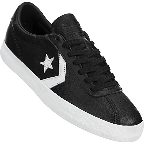 Converse Mens Breakpoint Ox Leather Trainers Black White