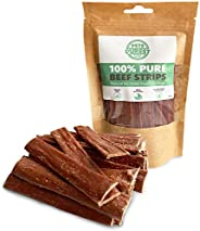 Pets Purest Natural Dog Treats 100% Pure Beef Air-Dried Chews for Dogs - Just One Ingredient - Grain, Gluten &