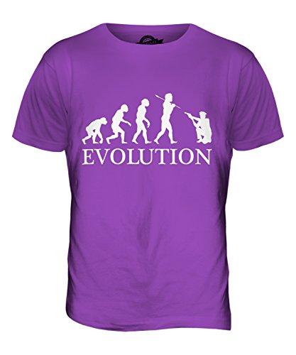 CandyMix Poliziotto Evoluzione Umana T-Shirt da Uomo Maglietta Viola