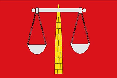 magFlags Flagge: Large EL Castellar   Paño Rojo de proporción 2/3, en su Centro balanza de Cruz según se representa en EL Escudo de Armas   Querformat Fahne   1.35m²   90x1