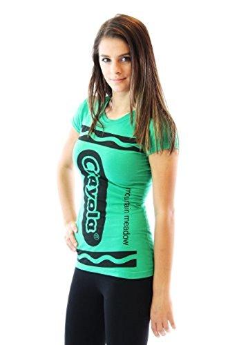 Crayola Crayon Mountain Meadow grün Junior Kostüm T-shirt (Junior (Kostüme Crayola Crayon)