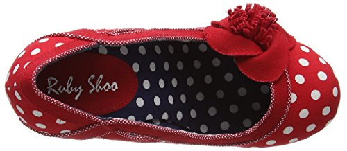 Ruby Shoo Issy, Escarpins femme Rouge (Red Spots)