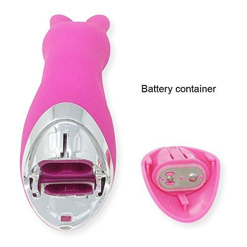 DELOVE Silikon Vibrator Horny Rabbit Klitoris und G-Punkt Klitorisstimulator, Finger Vibrator, Sexspielzeug mit Akku für Damen, mit 10 Programmen (Rosa)