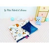"""couverture bébé BIO/plaid bébé/cadeau naissance/collection"""" Little adventures""""/unique fait main"""