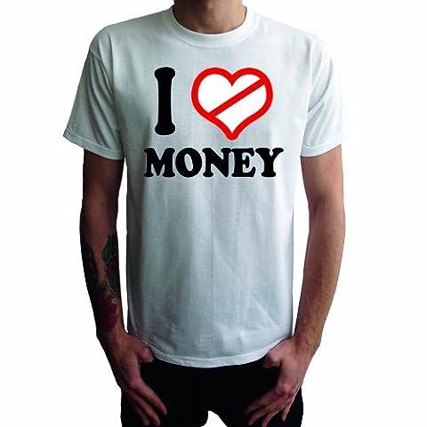 Je ne aime pas T-shirt des hommes d'argent, blanc,