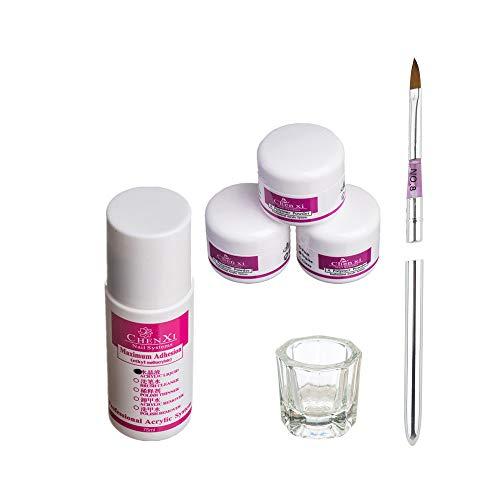 Zolimx acrilico polvere, pro semplicemente nail art kit acrilico liquido polvere penna dappen dish tools set (multicolore)