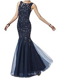Toscana novia sirena con estilo largo Estrellas por la noche vestidos de tul con punta de bola de ropa al