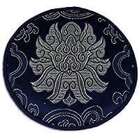 Pad für Klangschale mit diversen traditionellen Mustern Ø ca. 13 cm -9862-BS (blau/silber Lotus) in verschiedenen... preisvergleich bei billige-tabletten.eu