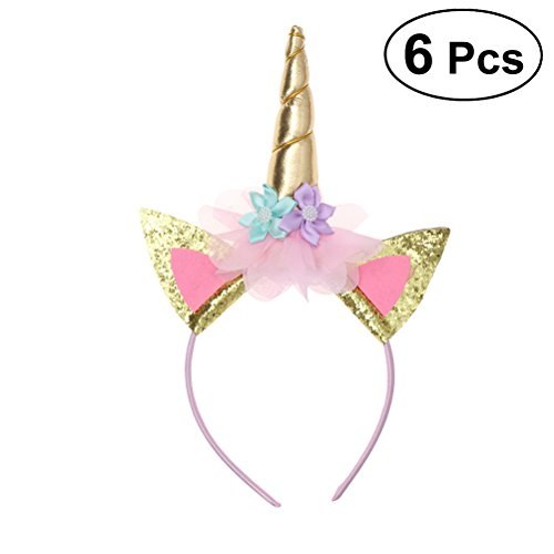 TOYMYTOY Pack de 6 cuerdas de unicornio cuerno Perfect Unicorn Party Supplies Party Favor