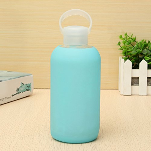 Inovey 500 ML Creativa Botella De Agua De Vidrio Portátil Lindo Tazas