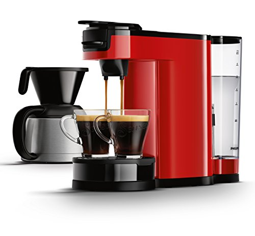 Senseo HD7892/80 Switch 2-in-1 Kaffeemaschine für Filter, Rot