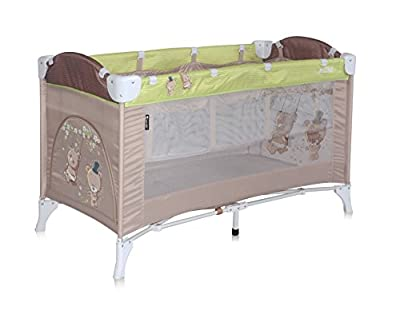 Lorelli 10080121629arena cama paraguas plegable con 2niveles para bebé