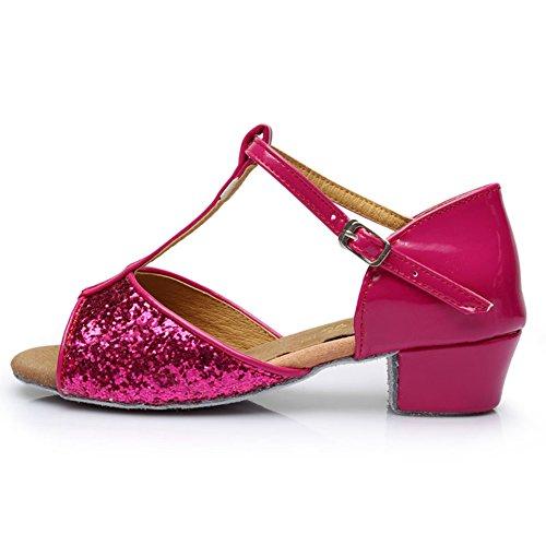 pattini delle ragazze latino/Basso ballando con scarpe da festa per bambini/ danza moderna scarpe/Scarpe inferiori molli D