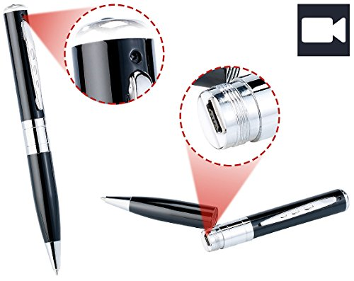 Somikon Stiftkamera: Videokamera im Kugelschreiber DV-705VGA mit microSD-Slot (Mini Kamera Kugelschreiber)