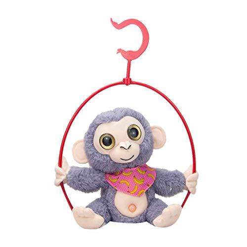Bildung Squishy Spielzeug aufblasbares Spielzeug im Freien Spielzeug,Niedliches Mimikry-Haustier, das Affen spricht, wiederholt, was Sie elektronisches Plüsch-Spielzeug sagen ()