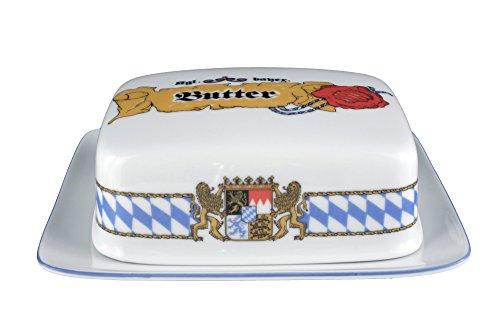 Seltmann Weiden 001.458154 Compact Bayern - Butterdose - 250 g - Porzellan - Compact Butterdose